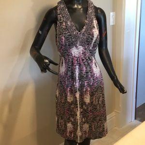 Summer ruffle front dress